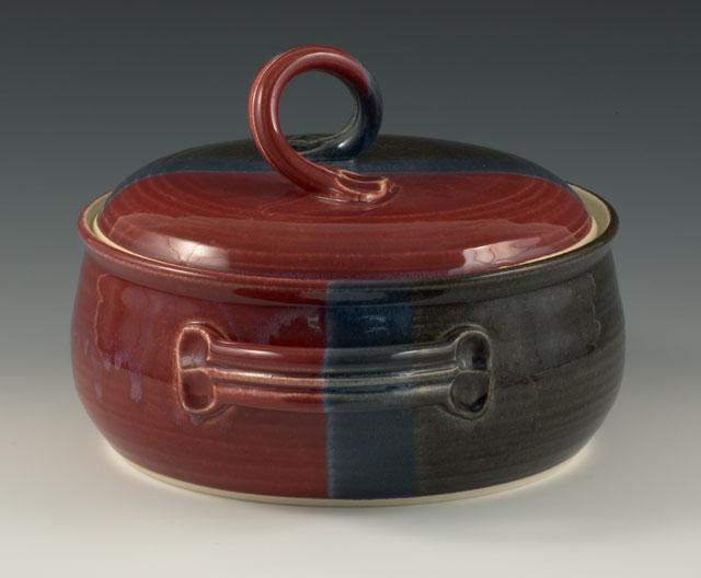 Handmade Pottery Casserole Dish Bean Pot Baking Dish With