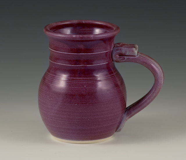 handmade pottery purple